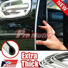 "210"" Chrome Car Door Edge Rim Guard Molding Trim DIY Protectors Strip For 15 ATS"