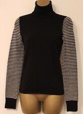 Karen Millen Roll Neck Texture Wool Knit Long Sleeve Jumper Sweater Top 12 40