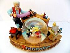 Pinocchio Geppetto's Workshop Hard to Find Snow Globe Disney Store EUC Orig Box