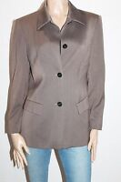 Yarell Designer Brown Wool Long Sleeve Button Front Jacket Size 10-S #SJ09