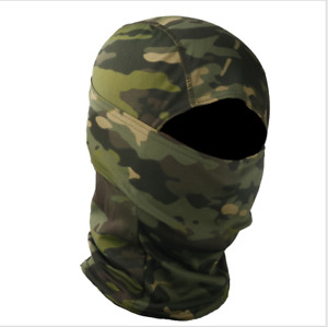 Outdoor Woodland Camo Balaclava Cycling Hunting Full Face Mask Windproof Hood