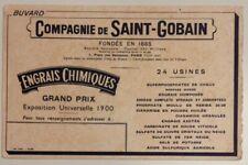 ANCIEN BUVARD COMPAGNIE DE SAINT GOBAIN - GRAND PRIX EXPOSITION UNIVERSELLE 1900