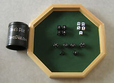Ultimate Gamer's Pack 10 RPG Dice + Tray + Cup + Bonus 5 D6 FREE SHIPPING