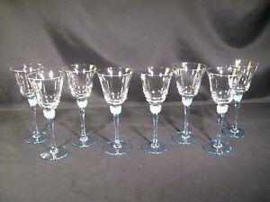 Mikasa Mariposa Blue Wine Glasses Set of 8