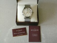 Accurist CAL.GM10 Mens Watch Silver Colour With Silver Colour Strap New boxed