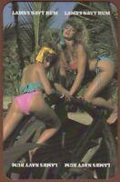 Playing Cards Single Card Old Vintage LAMB'S NAVY RUM Advertising Bikini Girls 1