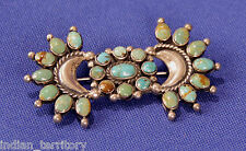Navajo Indian Turquoise Pin with 23 Stones