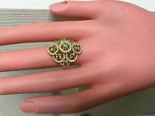 RARE NATURAL RUSSIAN DEMANTOID AND VS DIAMOND 18K MUSEUM GRADE RING
