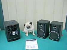 Sharp CD-DK890N Shelf Stereo System CD Tape iPod with Speakers