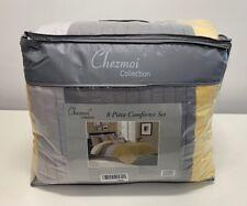 Chezmoi Collection 8-Piece Luxury Striped Comforter Set (California King) - READ