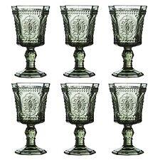Amazing New Style Retro Set of 6 Wine Glass Smoked Wine Goblet Glass Drink Glass