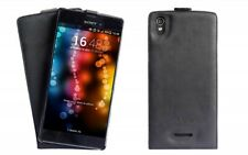 Sony Xperia T3 Handgemachte Echt Leder Schutz Hülle Case Cover Etui Tasche Case