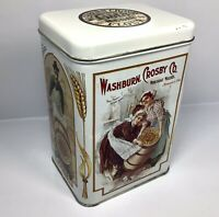 Vintage Washburn Crosby Company Gold Medal Flour Tin Canister - Empty