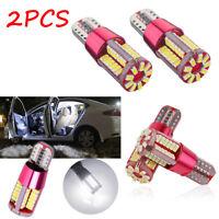 2Pcs T10 501 194 W5W 3014 LED 57-SMD Car Canbus Wedge Light Bulb Lamp White New