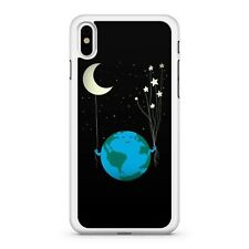 Planet Earth Holding Milkyway Stars And Celestial Crescent Moon Phone Case Cover
