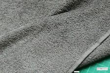 CHARCOAL GREY - Pure Cotton Thick Luxury Towelling Fabric - 400 gsm