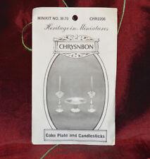 CRYSNBON Heritage in Miniatures Minikit No.M-70 CHR2206 Cake Plate & Candelestic