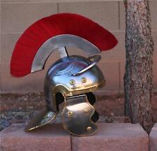 ROMAN Soldier Legionaire Centurion STEEL HELMET ARMOR with RED PLUME LARP SCA