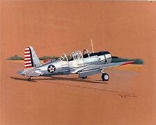 "Sam Lyons  Print ""BT-13"" - 'Vultee Vibrator' American Air Corps Basic Trainer"