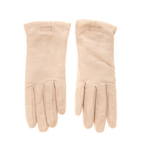RRP €170 ARMANI COLLEZIONI Lamb Leather Gloves Size M Wool Lining Made in Italy