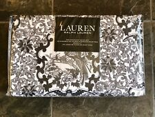 Ralph Lauren BLACK/GRAY/WHITE TAMARIND BIRD KING Duvet Cover & Shams 3 PC ~ New