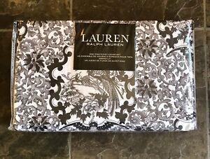 Ralph Lauren BLACK/GRAY/WHITE TAMARIND BIRD KING Duvet Cover & Shams 3 PC ~ New