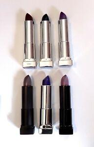 Maybelline Color Sensational Lipstick Pick A Shade Purple Black Grey Matte Goth