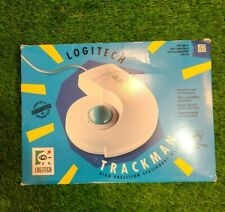 Vintage Logitech Trackman Stationary Mouse New In Box 1991