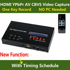 Live Stream Game Video Capture Recorder HDMI Ypbpr CVBS for XBOX One/360/PS3/TV