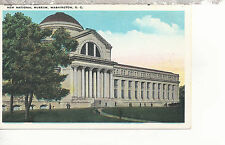 New National Museum  Front View with People  Washington D C   WB  Postcard 287b