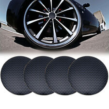 4pcs Black 56.5mm Car Wheel Center Hub Cap Cover Sticker Decal Trim Accessories