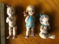 lot of 3 vintage hard plastic doll