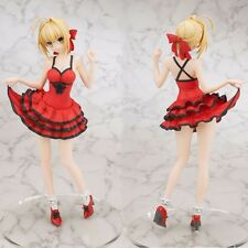 "Anime Fate/Extra CCC Saber Red Dress Ver. 25cm/10"" PVC Figure No Retail Box"