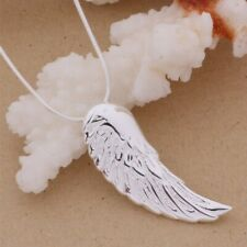925 Sterling Silver Fashion Jewelry Pendant Angel Wing & Necklace 18,20,22 in.
