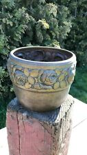 Beautiful Vintage Brass Plant Pot Holder With Flower Design *