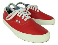 VANS Red Leather Trainers Mens UK 9 EU 43 Rare 721454
