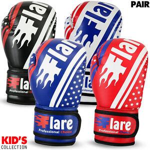 Flare Kids Boxing Gloves KickBoxing Training Children Sparring Junior Punch oz