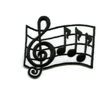 Musical - Cleft Note - Notes - Music - Embroidered - Iron On Applique Patch