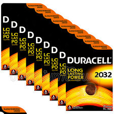 9 x Duracell Lithium Coin Cell battery CR2032 CR BR2032 DL2032 3V EXP:2025