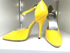 yasmina von wissmann Pumps 13cm Sexy yellow spitze pointy fetish high heels 39