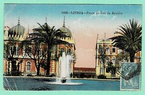 PORTUGAL 24c Green CERES 1922 PPC [Lisboa Praça Rio] PORTO > Varsovie POLAND TCV
