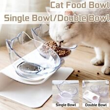 Non-slip Pet Feeding Station Dog Cat Food Water Double Bowl with Raised Stand UK