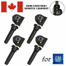 4X TIRE PRESSURE MONITORING SENSOR GM TPMS OE:13598772 NEW HOT