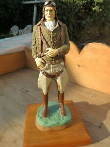 Original Michael Garman Sculpture Aviator Sculpture Paratrooper Vintage