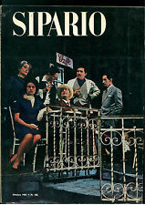 SIPARIO N. 186 OTTOBRE 1961 RIVISTA TEATRO CINEMA DARIO FO PETER HACKS IONESCO