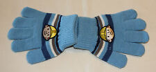 Bob The Builder Boys Blue Stripe Acrylic Gloves Size 1 - 6 New