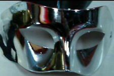 Silver Masquerade Ball Venetian Mask, Fancy Dress Ball Unisex Eye Face Mask