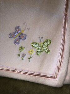 Tiddliwinks Blanket Pink Butterflies