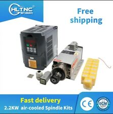 2.2kw Spindle Motor Air cooled milling spindle + inverter +1Set ER20 for CNC