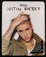 Official Justin Bieber Tin Of 3 Books  Facts Puzzles Posters & Stickers